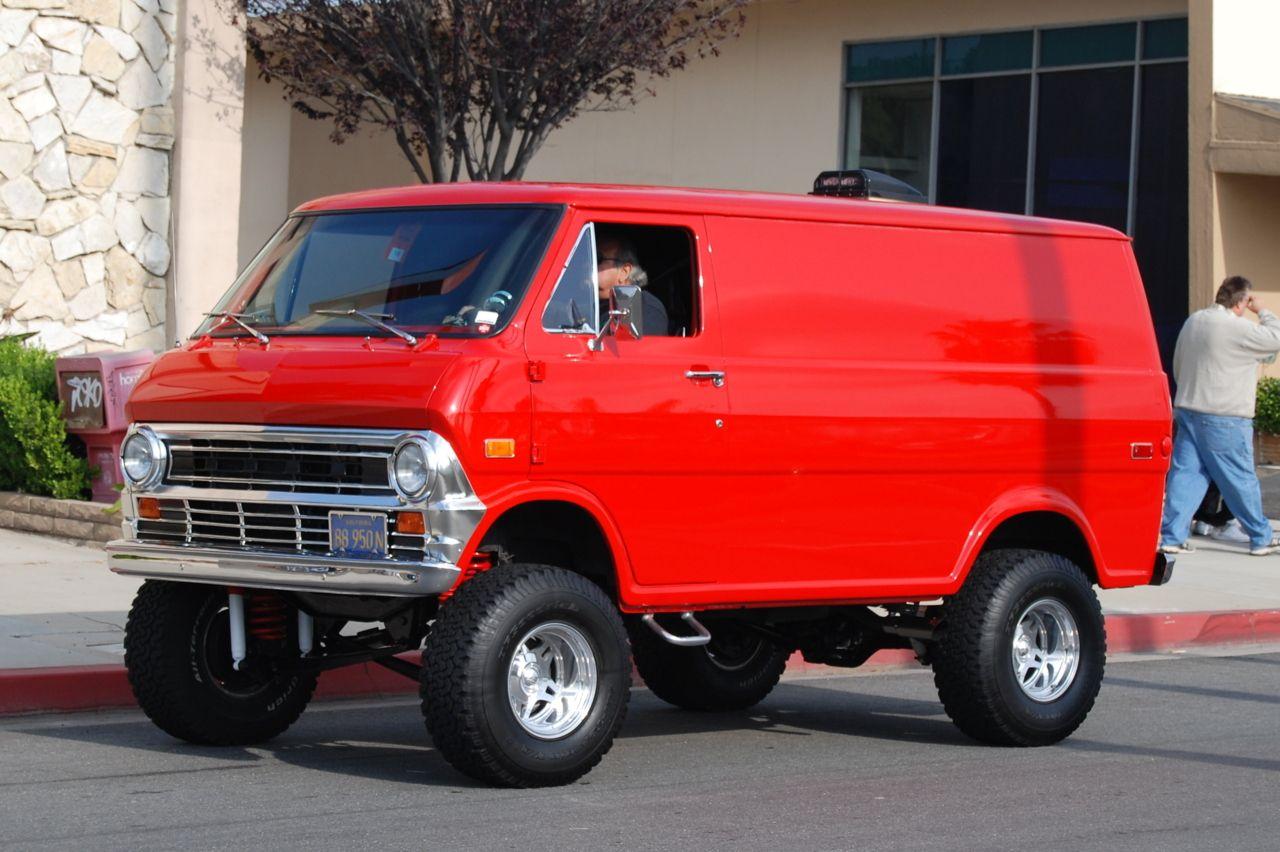 Beautiful Ford Quadravan By Pathfinder Lifted Van Monster Trucks Cool Cars