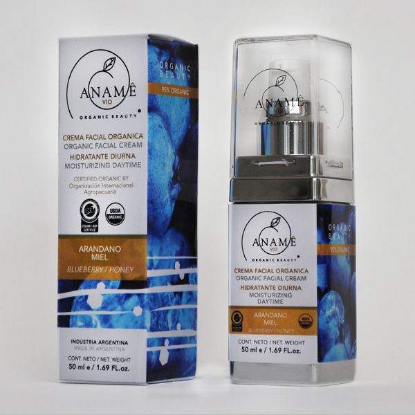 Crema Hidratante Facial Diurna 95% Organica.  Humecta y combate los efectos deshidratantes del medio ambiente. La miel aporta un efecto calmante y energizante, es nutritiva y humectante, manteniendo una hidratación prolongada.