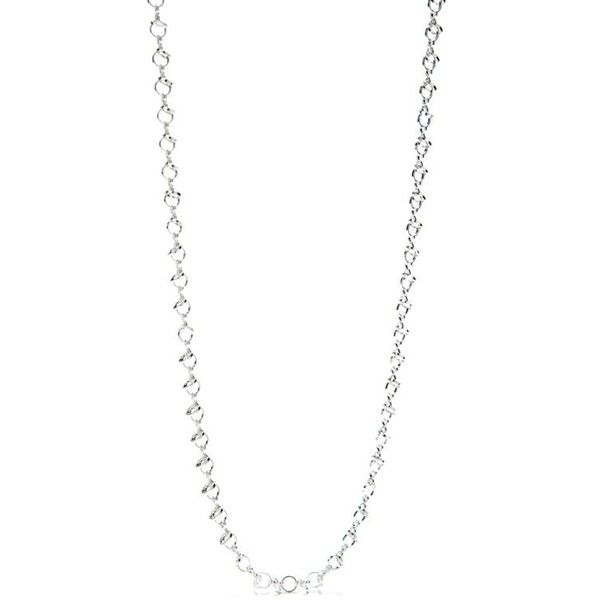 New Directions Silver Silver-Tone Open Circle Chain Necklace ($13) ❤ liked on Polyvore featuring jewelry, necklaces, silver, silver chain necklace, silver circle necklace, silver tone jewelry, silver necklace and circle necklace