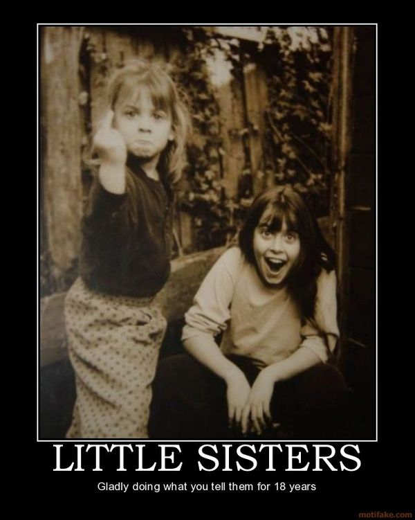 Funny Sister Quotes Little Sisters Funny Giving Finger Big