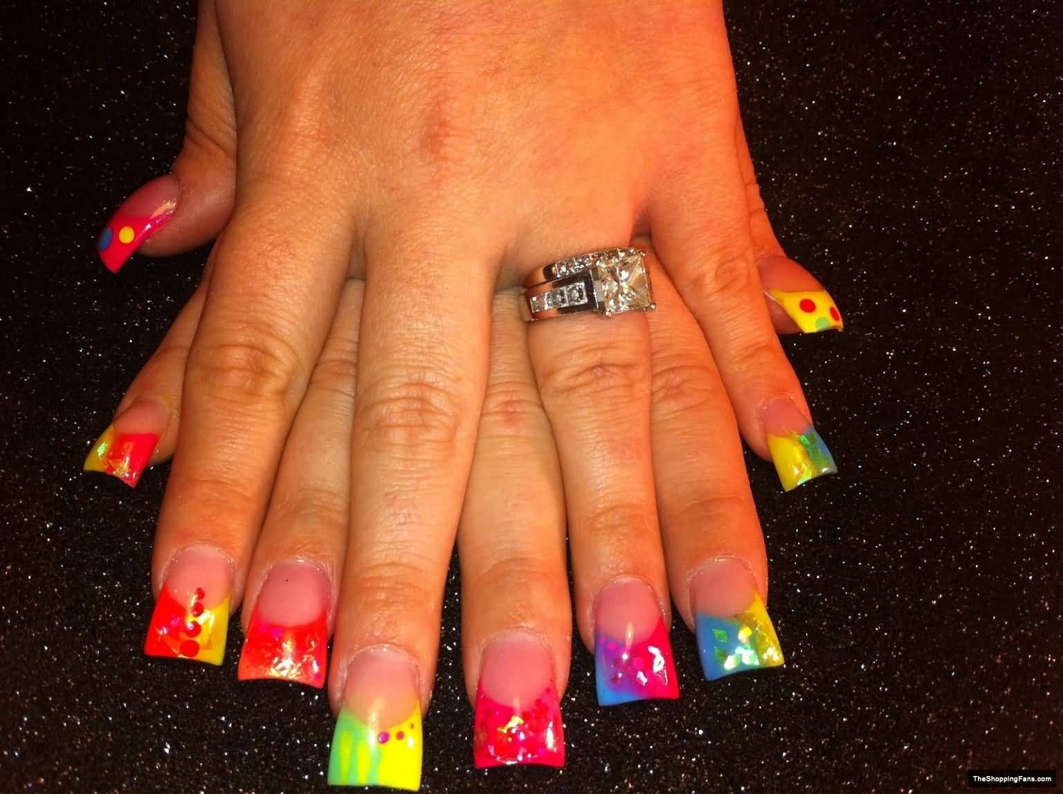 Colorful Neon Color Nail Art Ideas Just For You | Color nails and ...