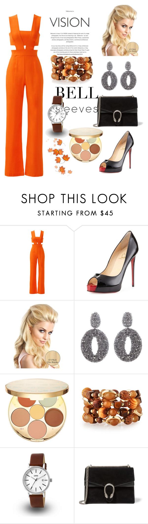 """Fashion Lady~"" by amy0527 ❤ liked on Polyvore featuring Karina Grimaldi, Christian Louboutin, Oscar de la Renta, tarte, Emily & Ashley and Gucci"