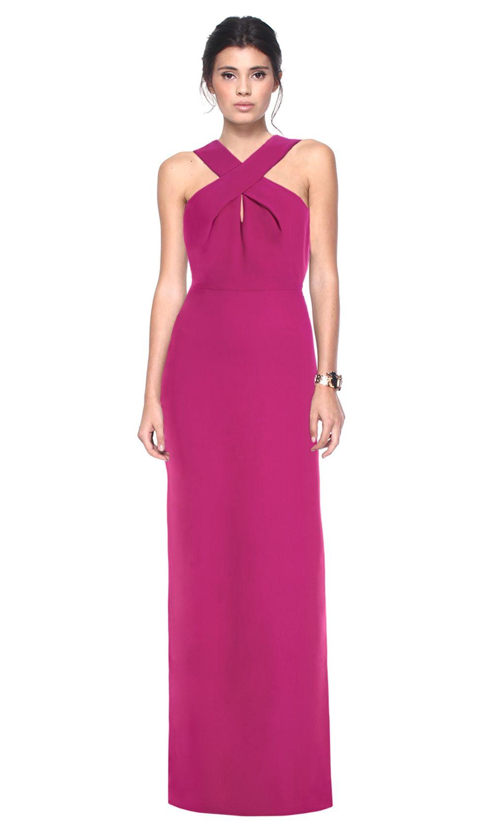 Vestido Longo Rosa em seda | Estilo | Pinterest | Vestiditos, Alta ...