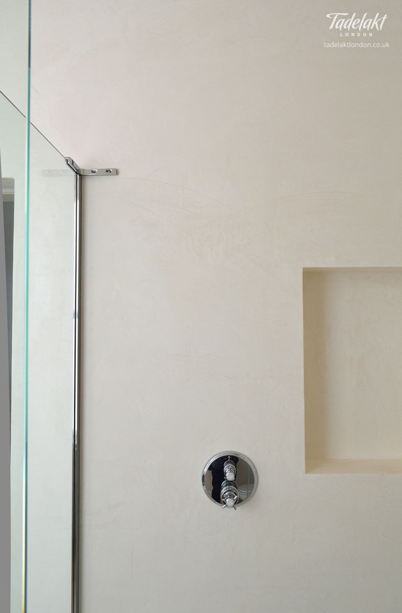 Badezimmer design stand-up-dusche tadelaktgroutfreeshower african plaster waterproof  bathroom