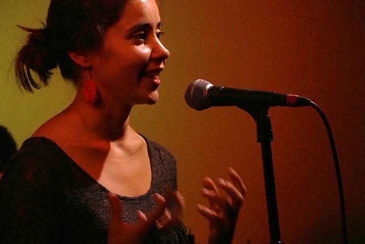 16 de agosto de 2014 - Ingrid Beaujean en concierto en Film Club Café.
