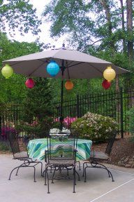 Patio Umbrella Lights - Solar, Candles, and Battery Operated