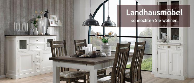 Esstisch 240x100cm Halifax Provence Shabby chic antikweiss - küche landhausstil günstig