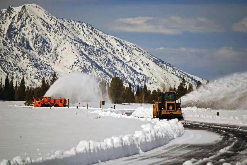 Teton spring snow removal