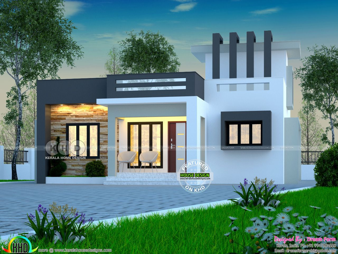 Cute One Floor Home Jpg 1 280 960 Pixels Modern House Facades Bungalow House Design House Roof Design