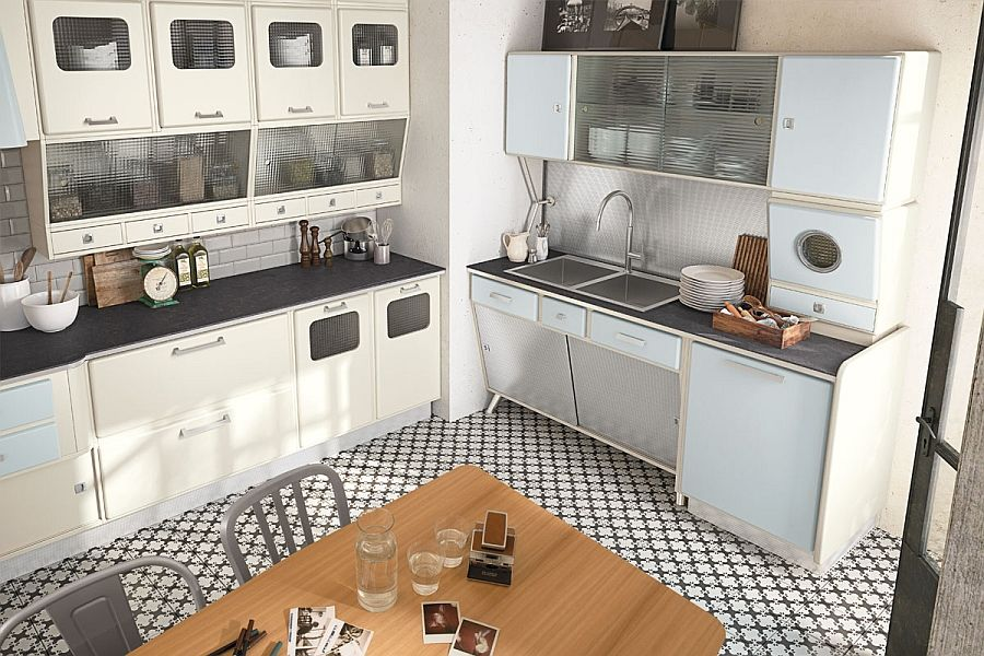 Beautiful vintage kitchen borrows from the design elements of the - küche vintage look