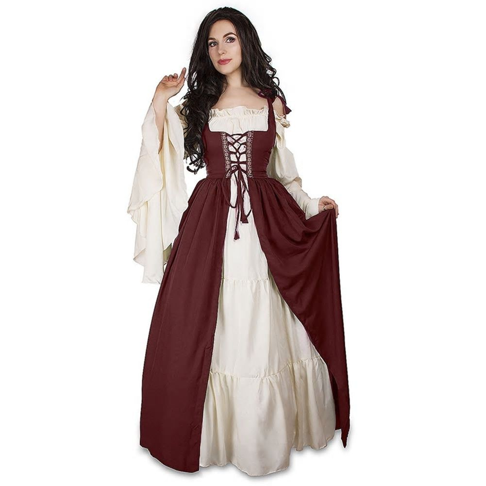6467487e27b Women Princess Dress Medieval Victorian Renaissance Gothic Palace Halloween  Gorgeous Size Plus New Hot Sale Cosplay Dress