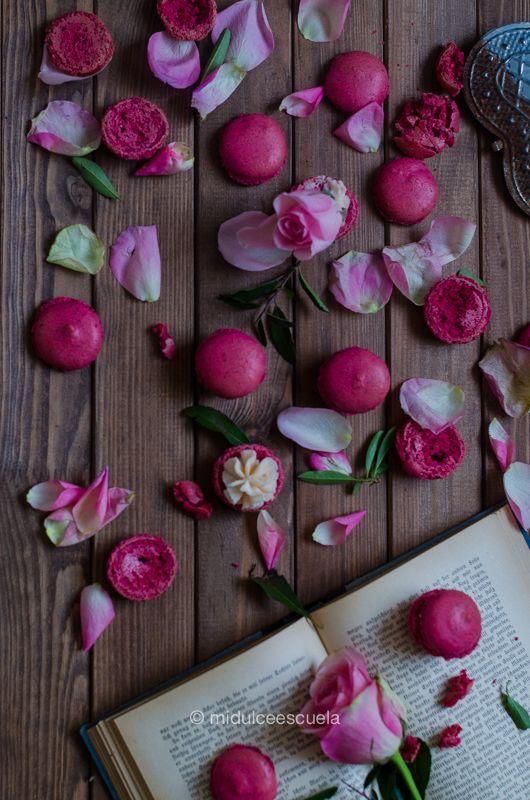 Rosas y macarons, perfectos para San valentín. - macaroons -