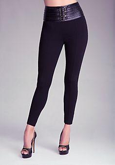 1b2cc2c466b43c High Waist Belted Leggings | leggings | Fashion, Leggings, Leggings ...