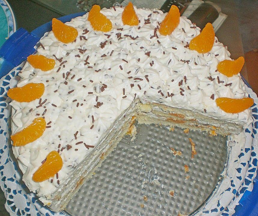 Mohrenkopftorte Mit Mandarinen Mohrenkopftorte Mandarinen Und Kuchen