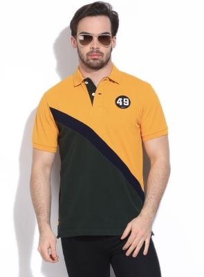 ae79e55d3 Gant Solid Men s Polo T-Shirt - Buy Lt. Yellow Gant Solid Men s Polo T-Shirt  Online at Best Prices in India