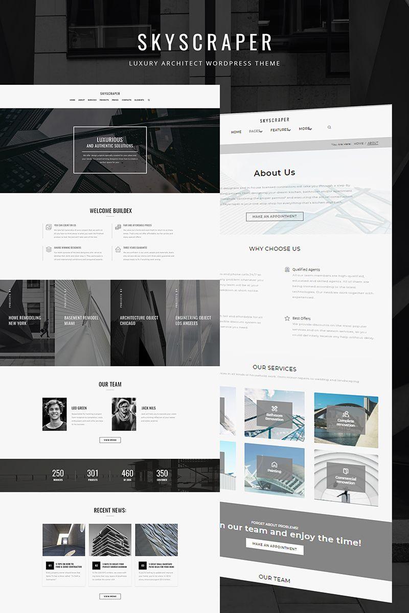 Skyscraper - Architecture And Construction WordPress Theme ...