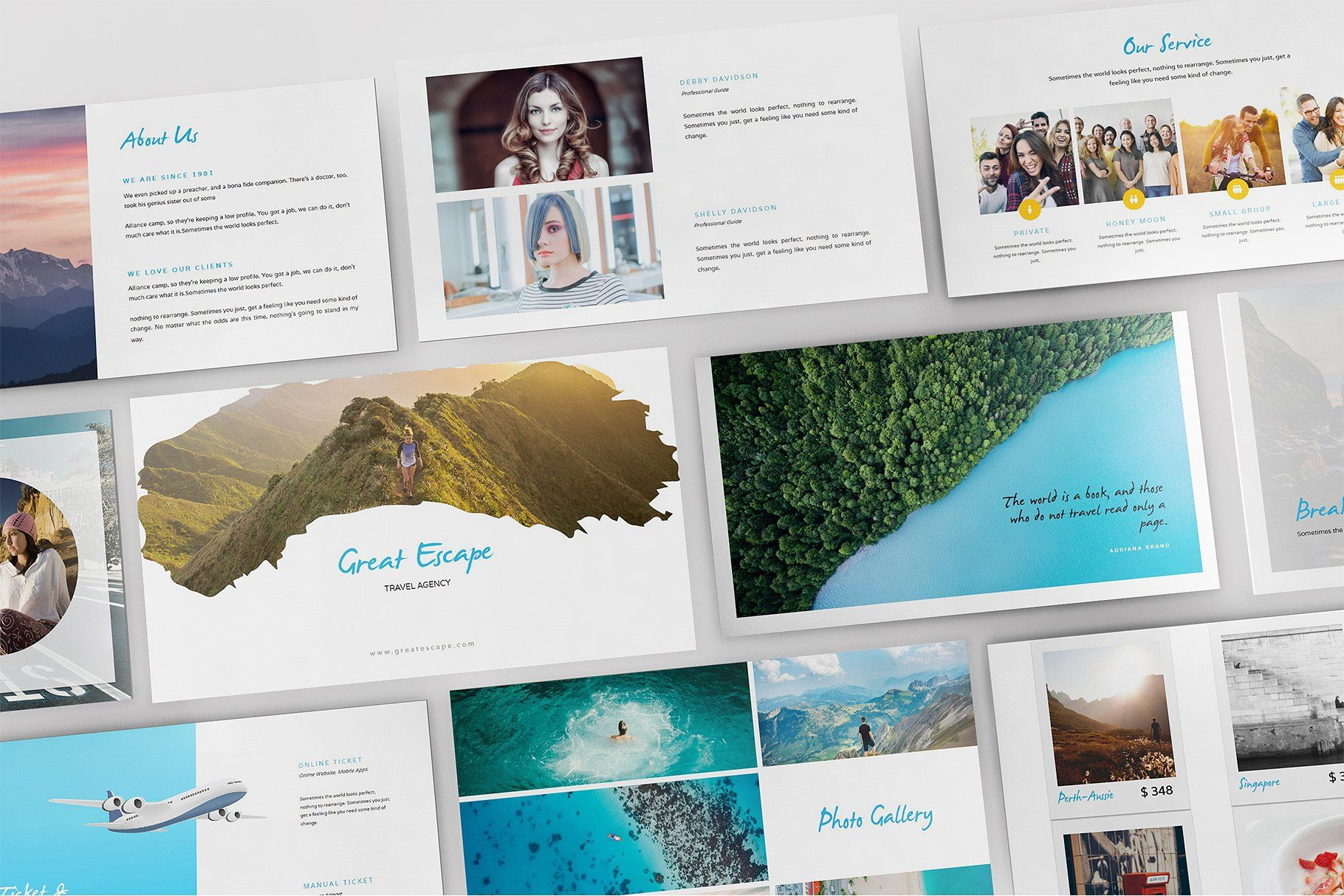 Travel Agency Keynote Template By Incools Stokie On