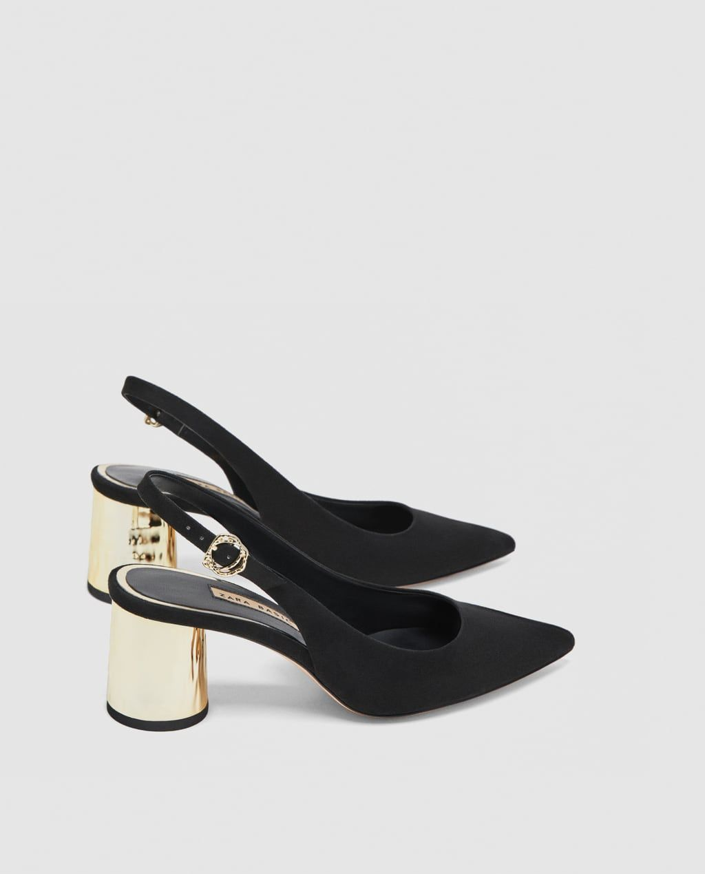 5726ed7ea5fc2f Image 5 of MID-HEEL SLINGBACK SHOES WITH LAMINATED HEELS from Zara ...