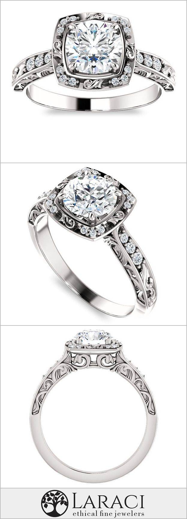 Moissanite 1ct (6.5mm) Round Forever One Near Colorless