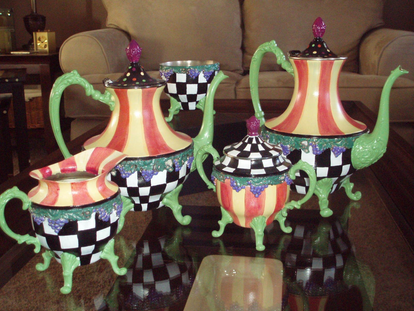 Whimsical Hand Painted Art Furniture Hand Painted
