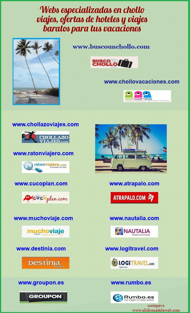 infografia de portales para vacaciones