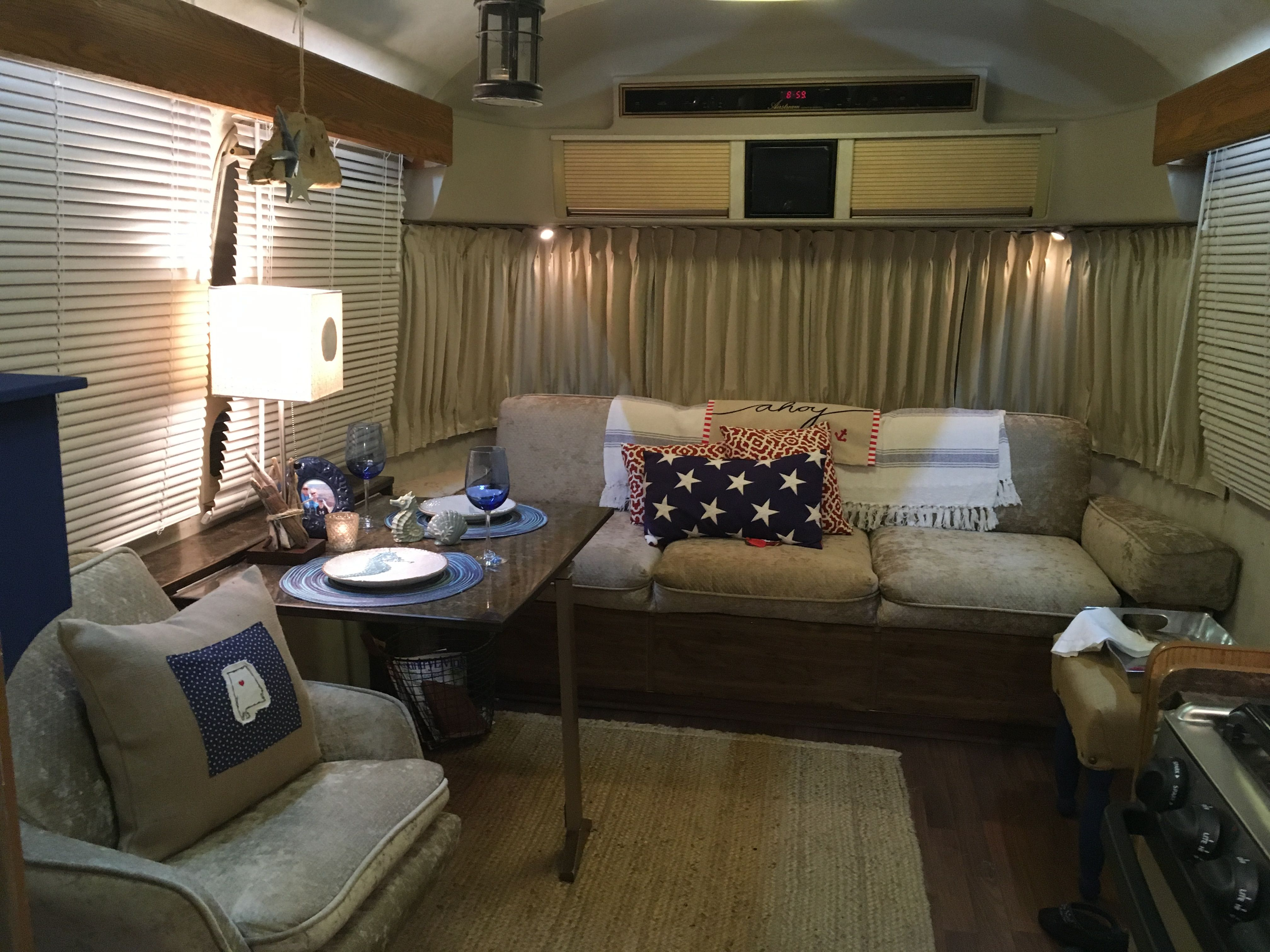 "Airstream 1984. Excella ""The Commander"" Sofa and Chair"