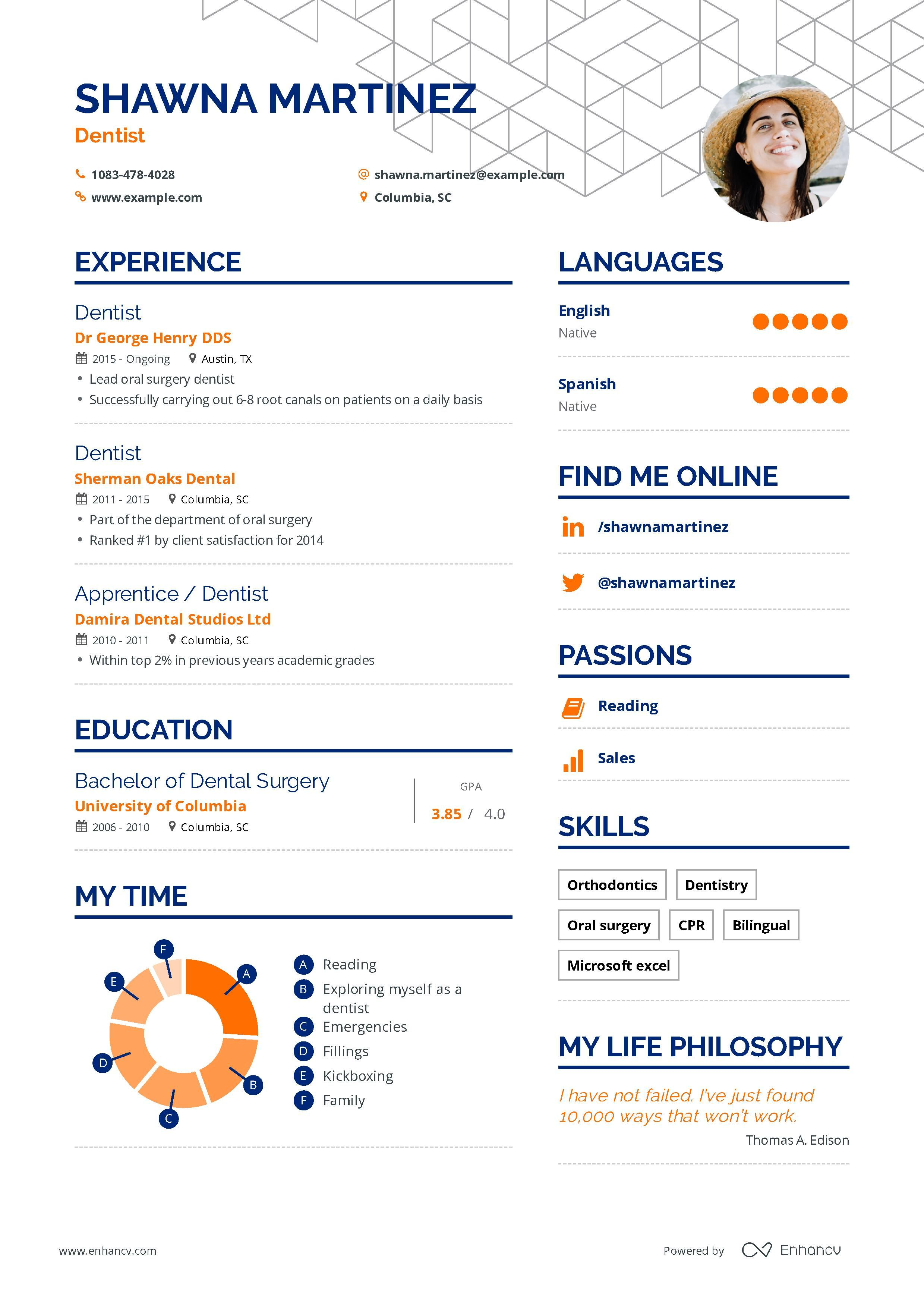 Dentist resume examples skills templates more for 2020