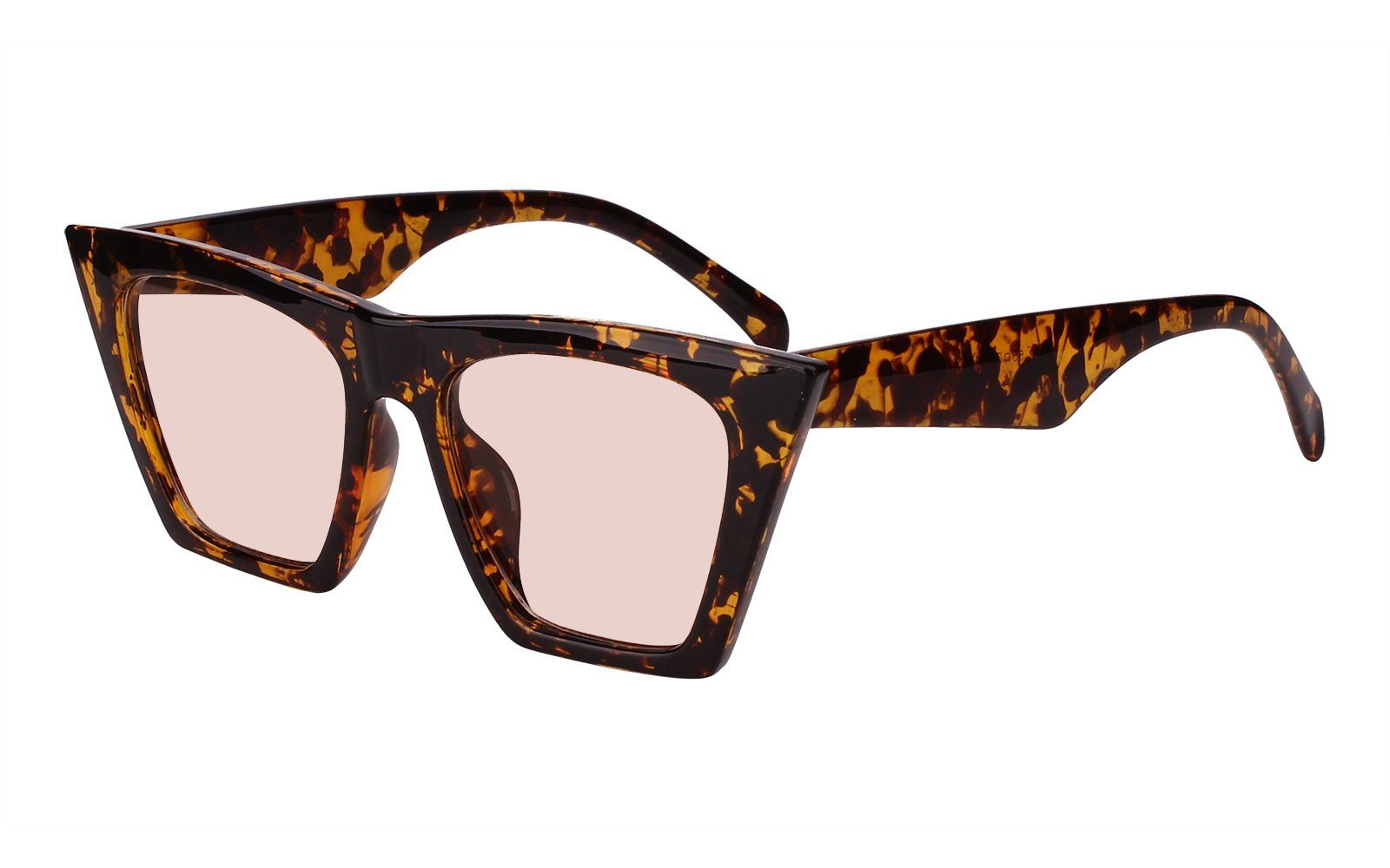 7a913feea Beison Mens Womens Square Mod Fashion Sunglasses Tinted Lens Tortoise frame  / Light brown lens 55 ** You can get additional details at the image link.