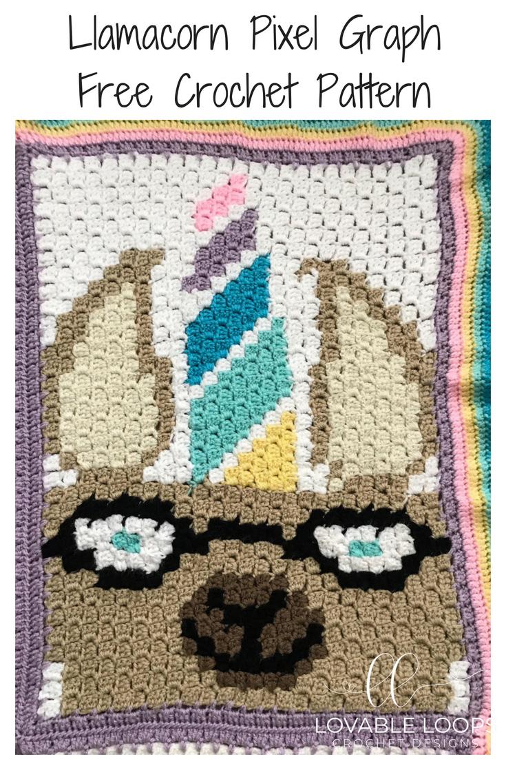 Free Llamacorn C2c Graph Crochet Pattern Free Crochet Patterns