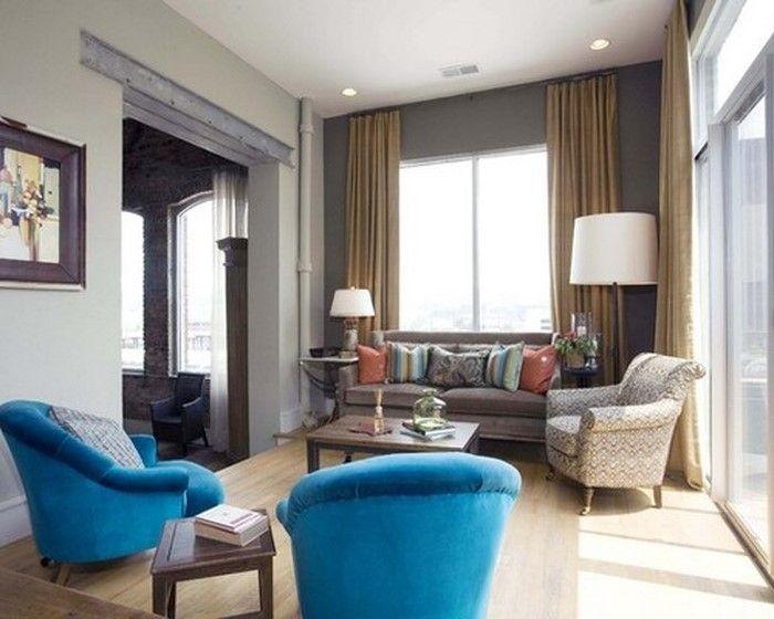 Wohnzimmer farblich gestalten 71 Wohnideen mit der Farbe Blau