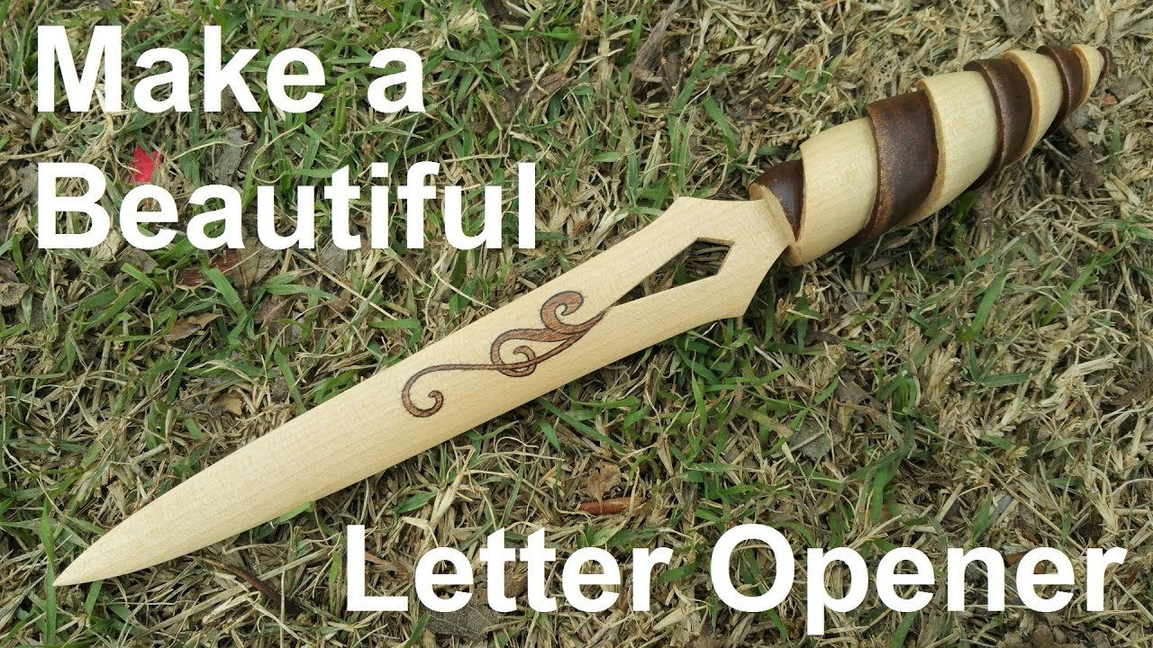 Make A Simple Yet Beautiful Letter Opener - YouTube | Cool
