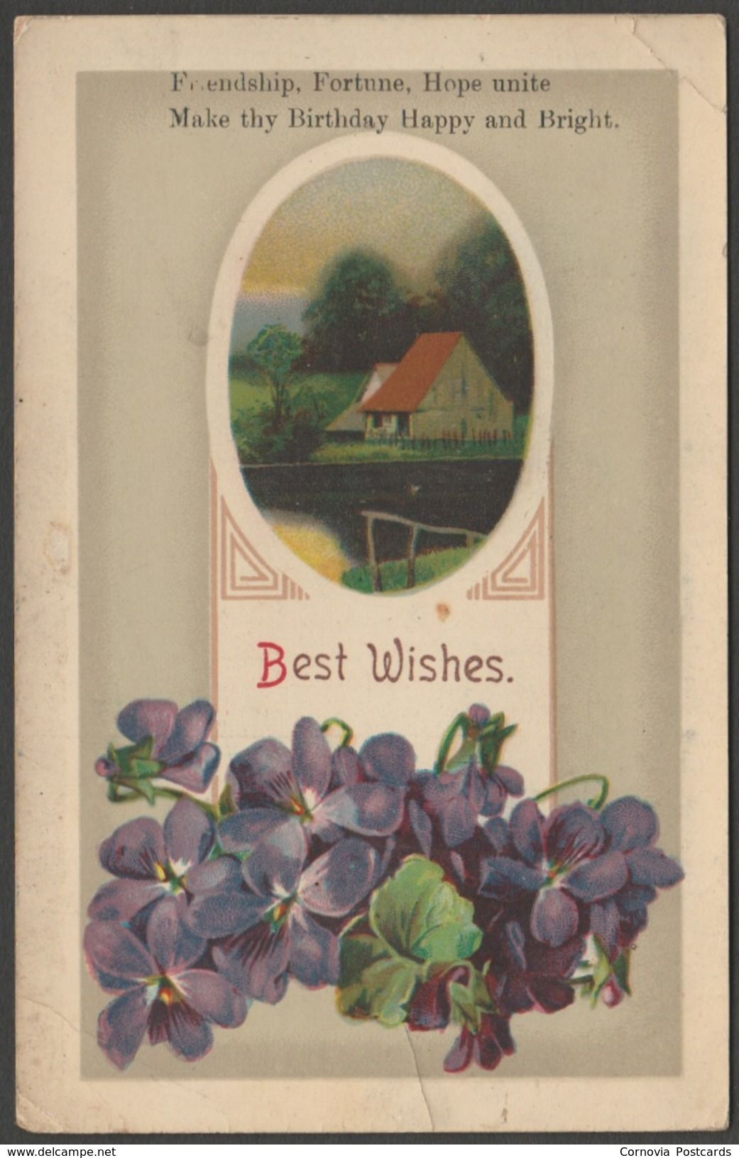 American Greetings Best Wishes Happy Birthday C1910 Postcard