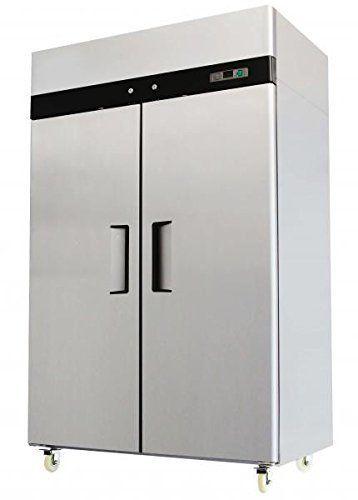 2 Door Stainless Steel Reach In Commercial Freezer Commercial Freezer Upright Freezer Solid Doors