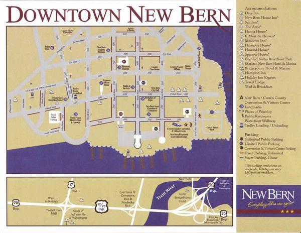 New Bern NC New Bern Map North Carolina places to go