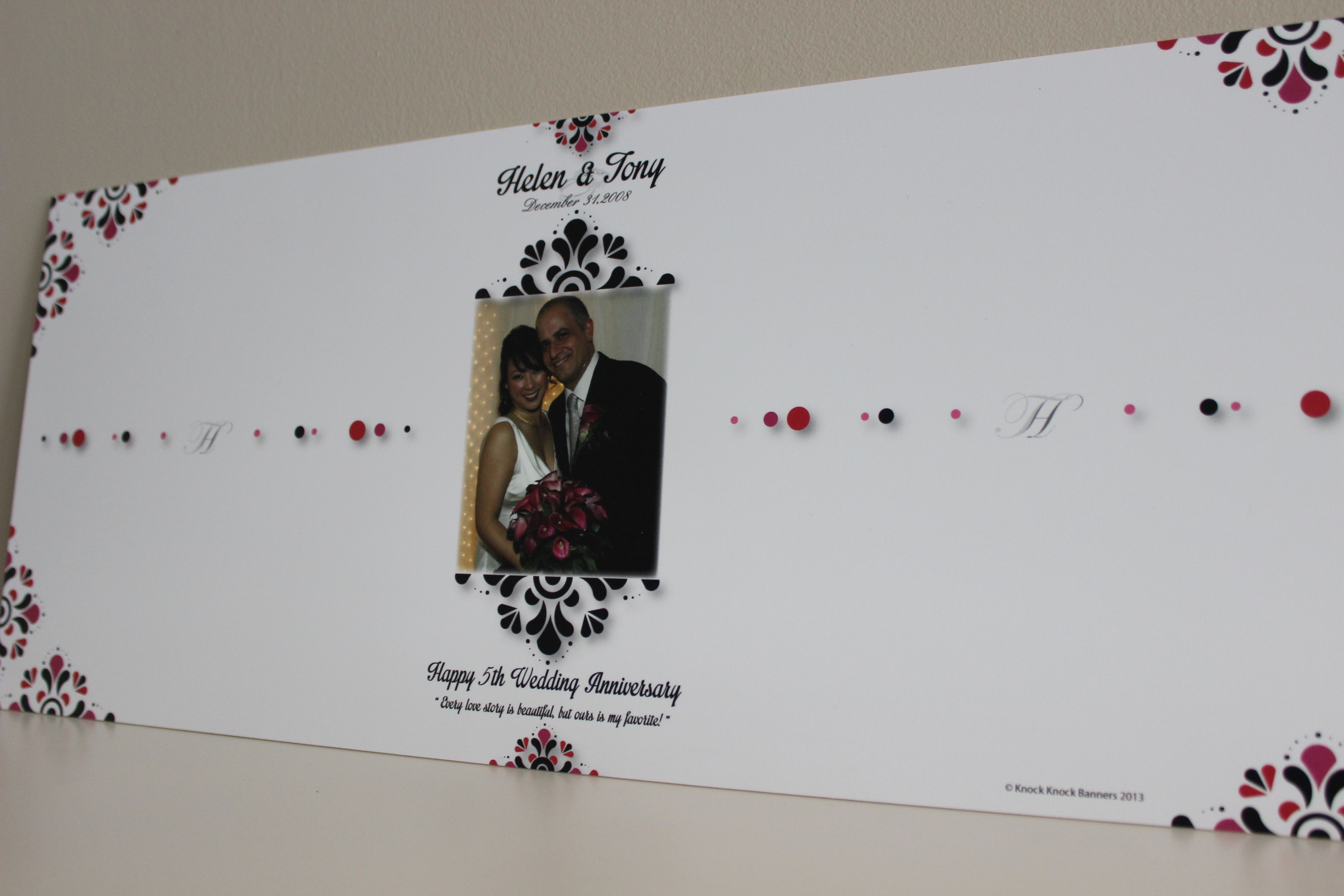 Elegant Wedding Signature Banner This banner can be personalized