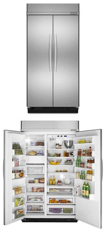 Refrigerators 20713: Brand New Kitchenaid 48 Stainless Built In Side By  Side Refrigerator Kssc48fts