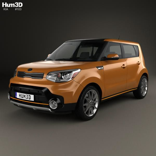 3d Model Of Kia Soul Turbo 2017 Kia Soul Kia Car 3d Model