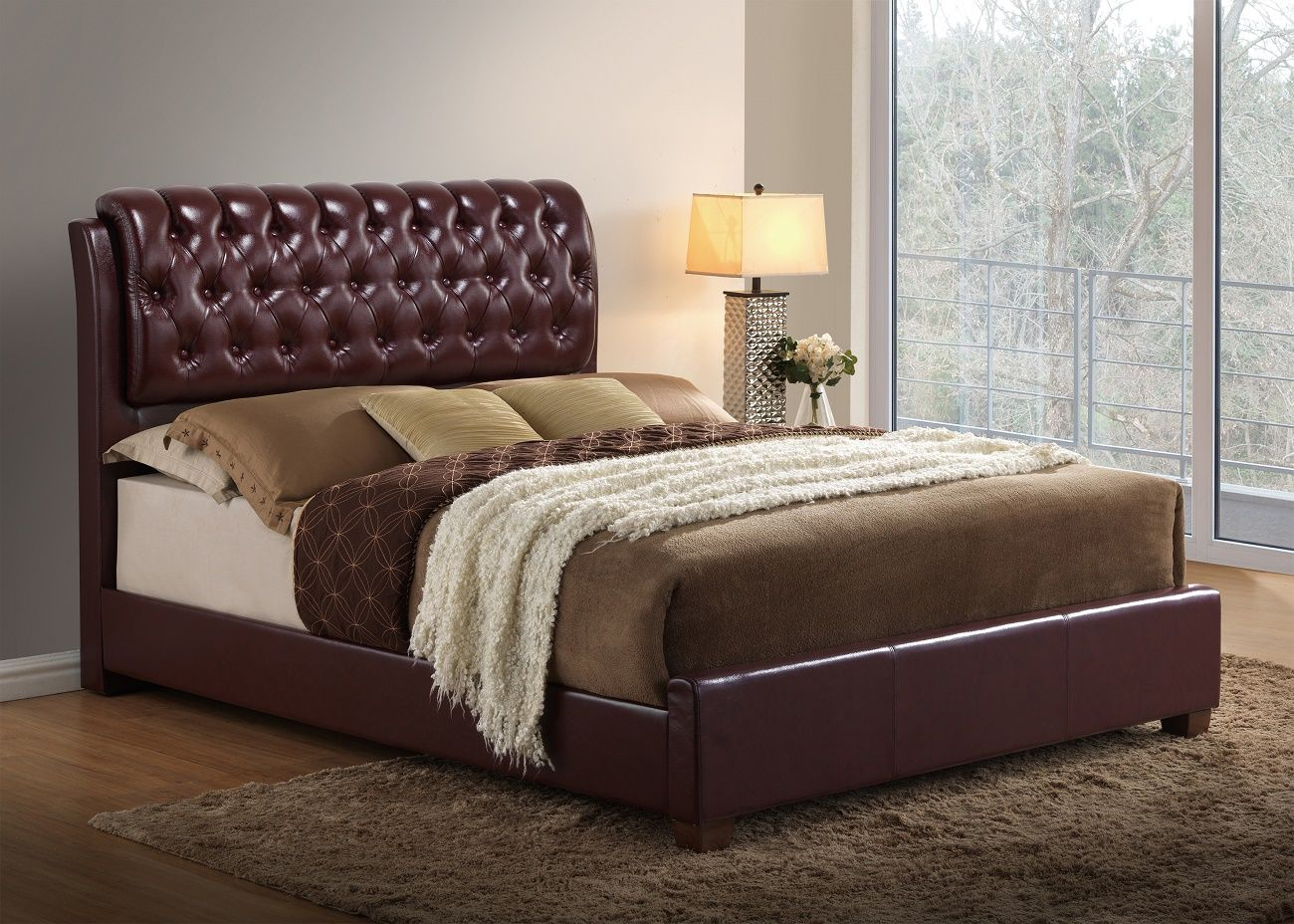8119 BUR PU Bed By Global Furniture Great Furniture To Modernize Your Living  Space!