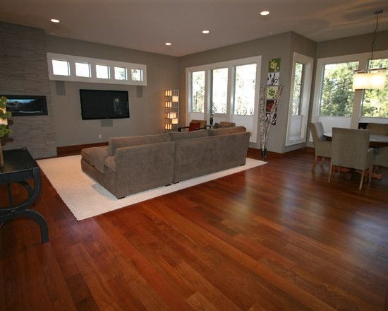 Family Room Brazilian Cherry Wood Floors Design Pictures