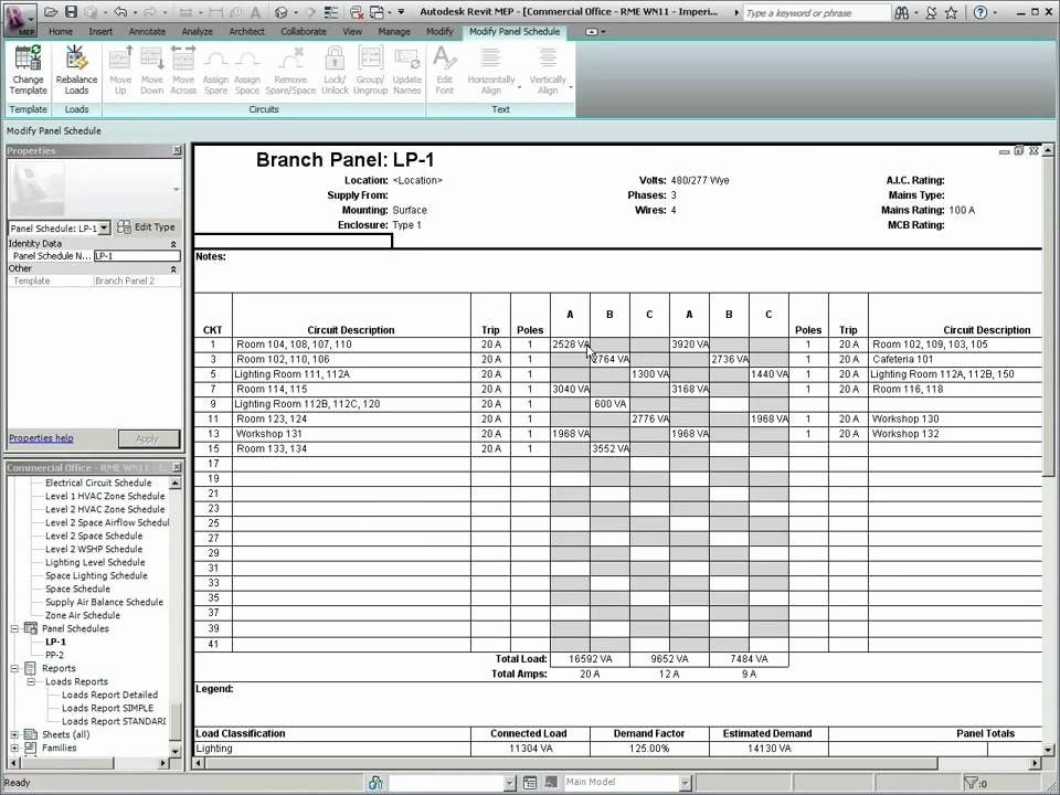 40 electrical panel schedule excel template in 2020  with