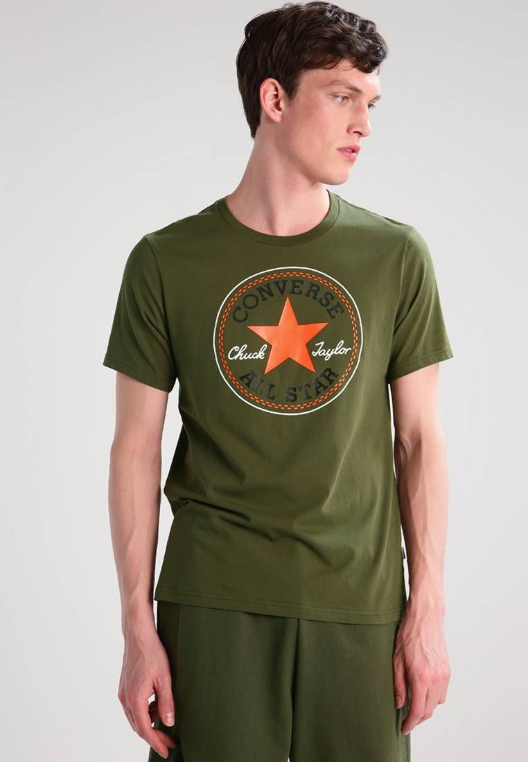 76ffa0c55d91 Converse. Print T-shirt - fatigue green. Our model s height Our model