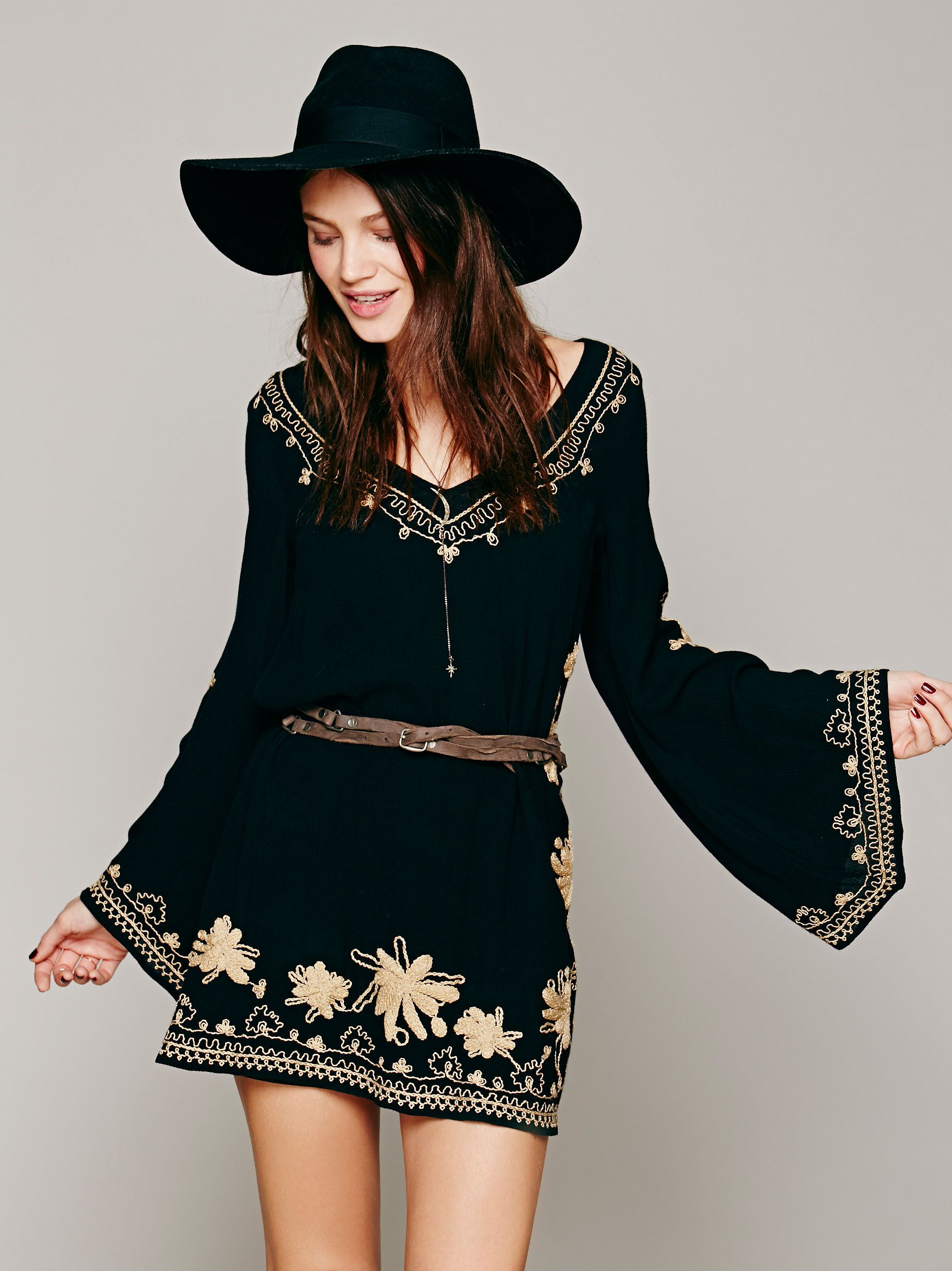 Free people skyfall embroidered dress stuff to buy pinterest