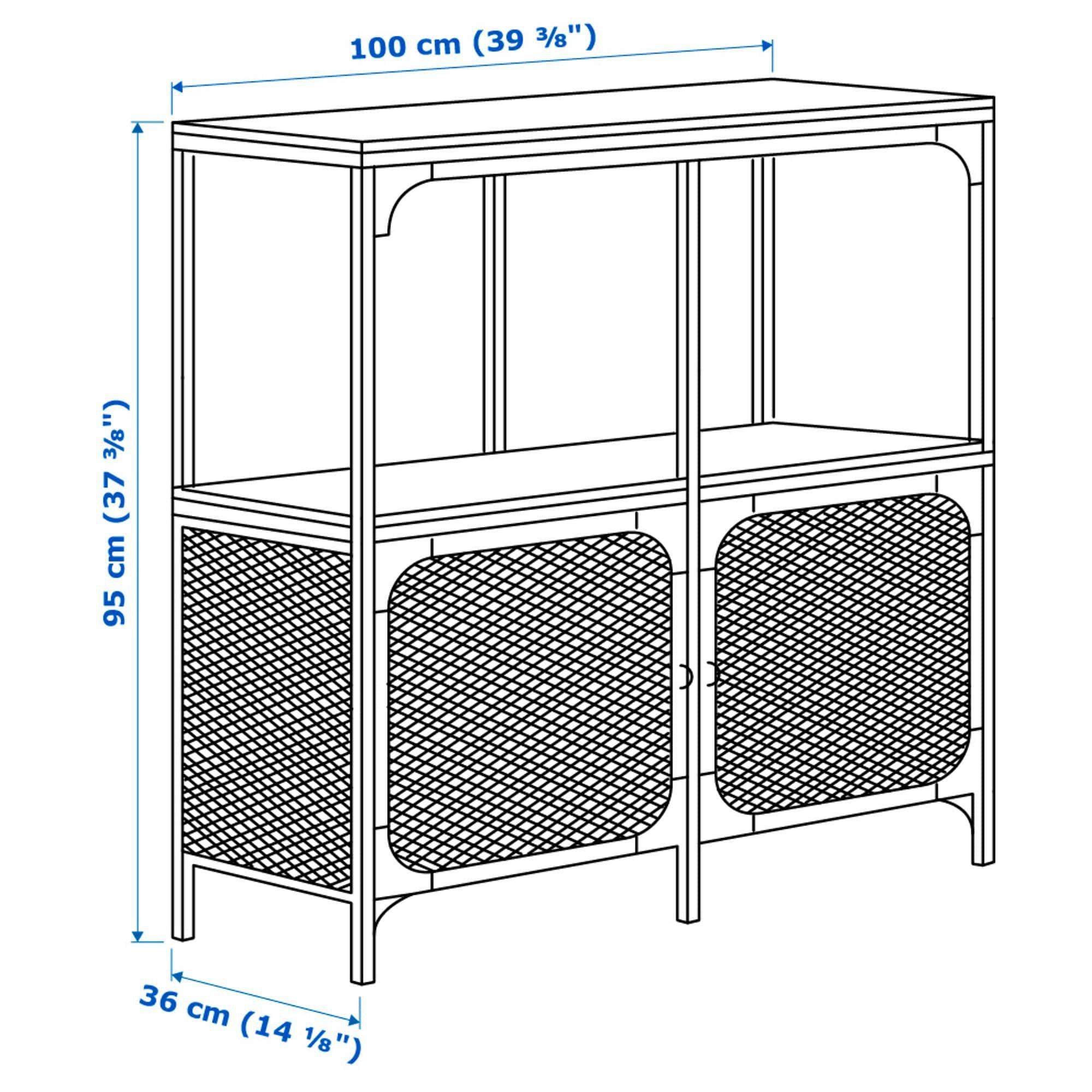 Fjallbo Black Shelving Unit 100x95 Cm Ikea Shelf Unit Solid Wood Shelves Kitchen Storage Units