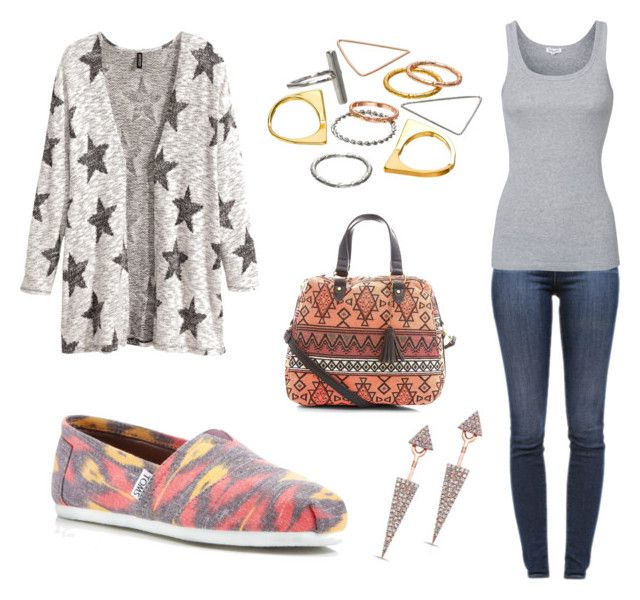 """""""Running Errands"""" by mel-lolcat-lewis on Polyvore featuring J Brand, Splendid, TOMS, H&M and Mudd"""