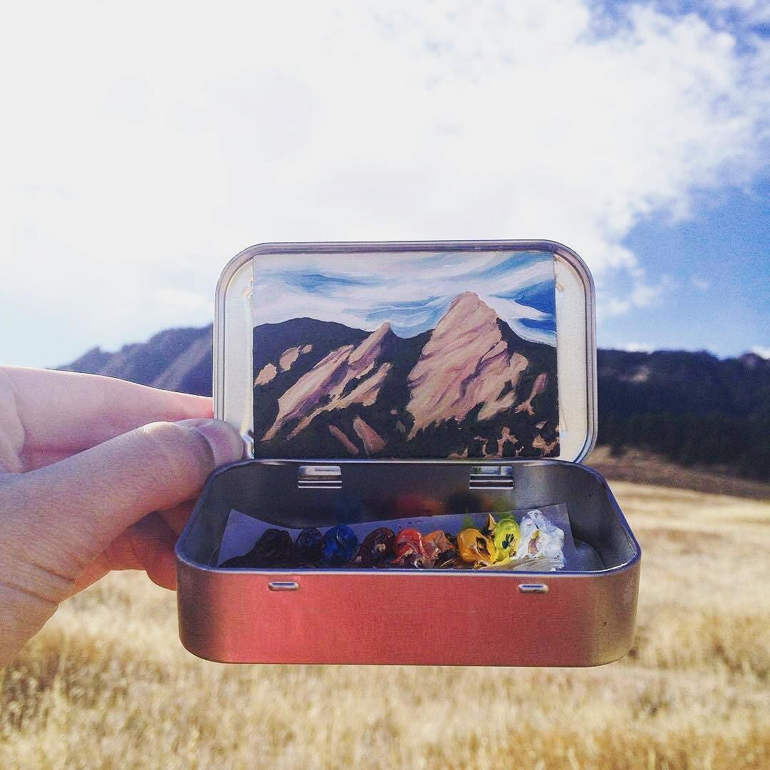 #TrekLightGear has been lucky call Boulder home for 15 years and these views never get old. and artwork by the very talented @heidi.annalise.art.