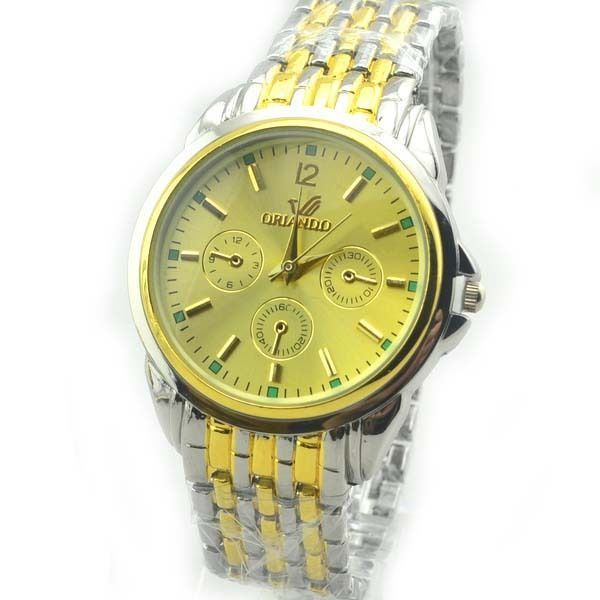 Fashion Mens Stainless Steel Watches Luxury Round Dial