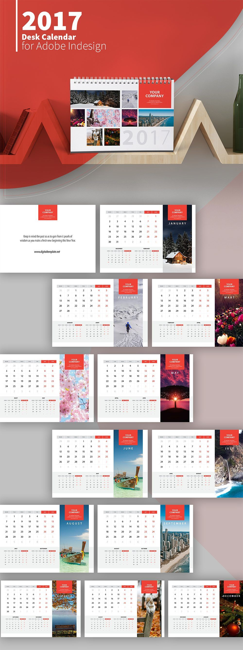 Pin de Digital Template Ltd en Calendars | Pinterest | Diseño de ...