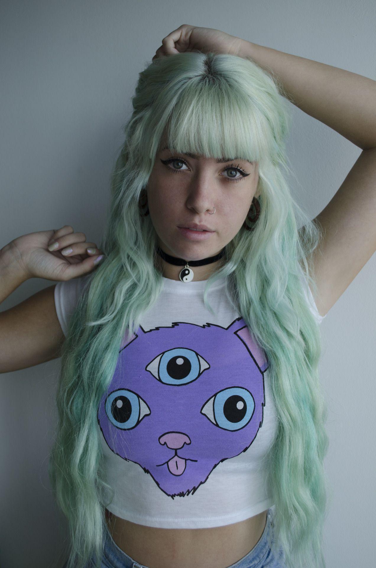 Love this ahh hair pinterest mint green hair green hair and
