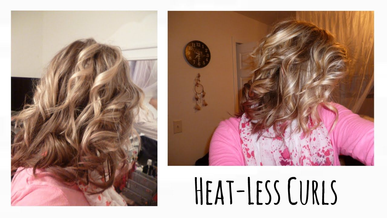Heat Less Curls Overnight Head Band Curls Short Hair How To Curl Short Hair Hair Styles Hair Without Heat