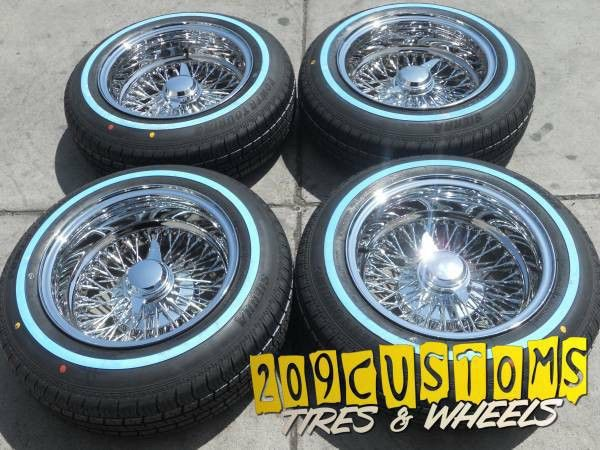 13 13x7 Reverse 72 Spokes Wheels Tires Lowrider Wire Wheels Impala